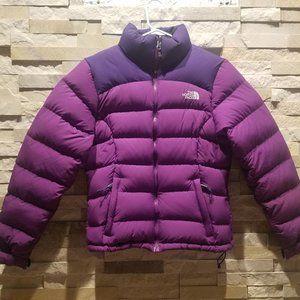 North Face Womens XS Purple Nuptse Puffer Jacket
